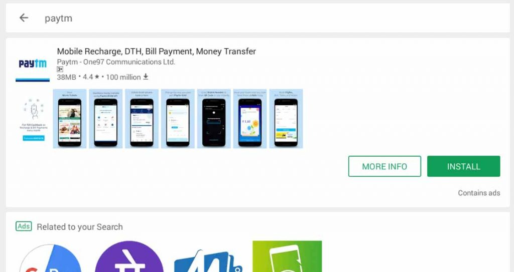 Download PayTM App For PC Windows 10