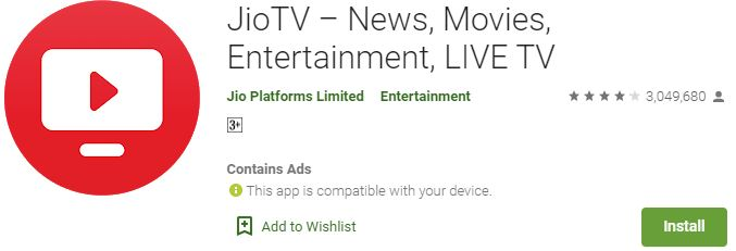 Download JioTV for Windows